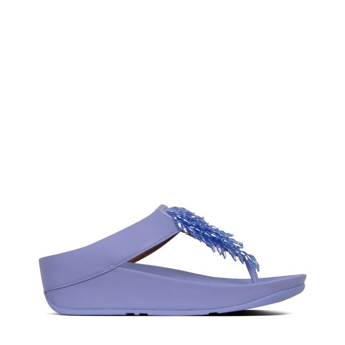 Image for Rumba frosted lavender leather sandals