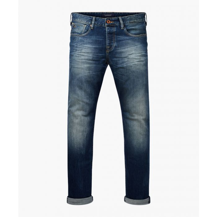 Image for Ralston dark wash cotton slim jeans