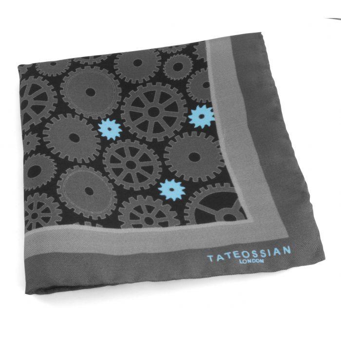 Image for Grey Silk Pocket Square Handkerchief