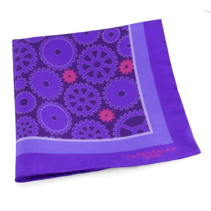 Image for Purple Silk Pocket Square Handkerchief