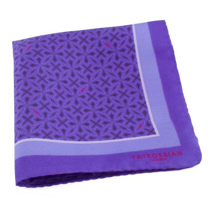 Image for Purple Armenian  Silk Pocket Square Handkerchief