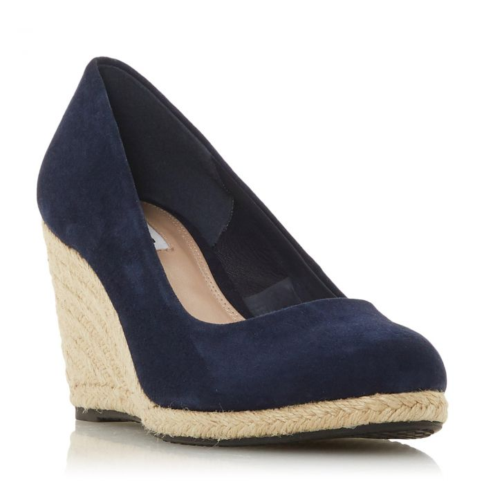 Image for Dune Ladies ANNABELLA Heeled Espadrille Wedge Shoe