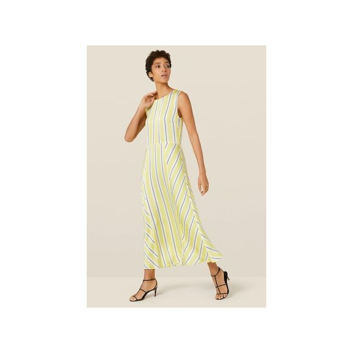 Image for Adalia Yellow Striped Dress - Yellow