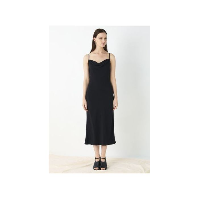 Image for Amela Slip Dress - Black