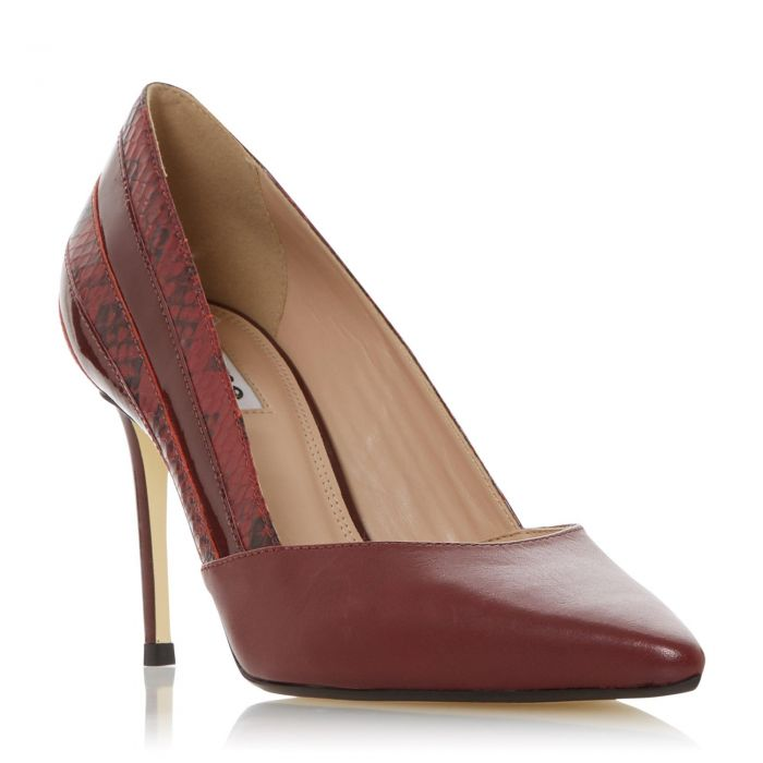 Image for Dune Ladies BARRELLE Panel Detail Pointed Court Shoe