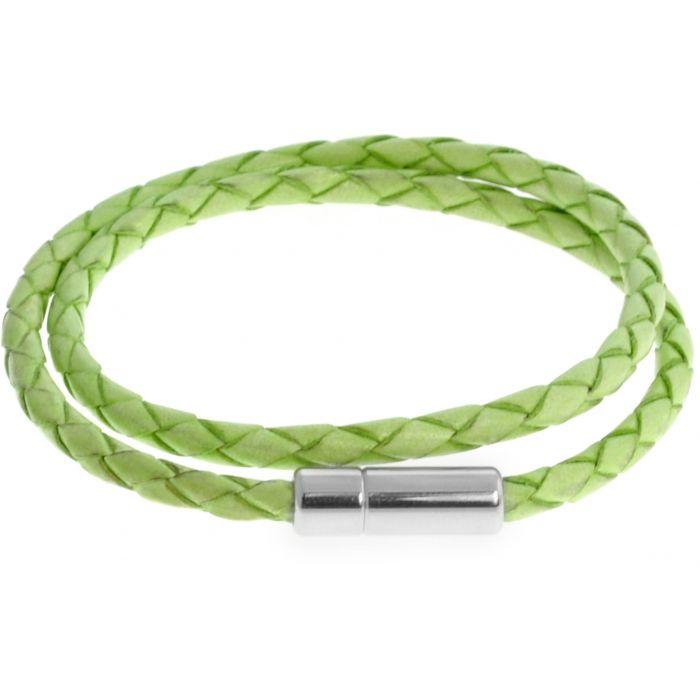 Image for Silver  Leather  Light Green Single wrap  S-35cm(L)  Pop Scoubidou