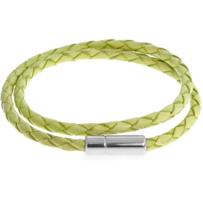Image for Silver  Leather  Light Green Single wrap  M-37cm(L)  Scoubidou