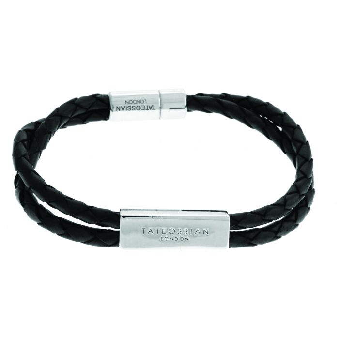 Image for Silver  Leather  Black Double wrap  S-17cm(CF)  Scoubidou ID