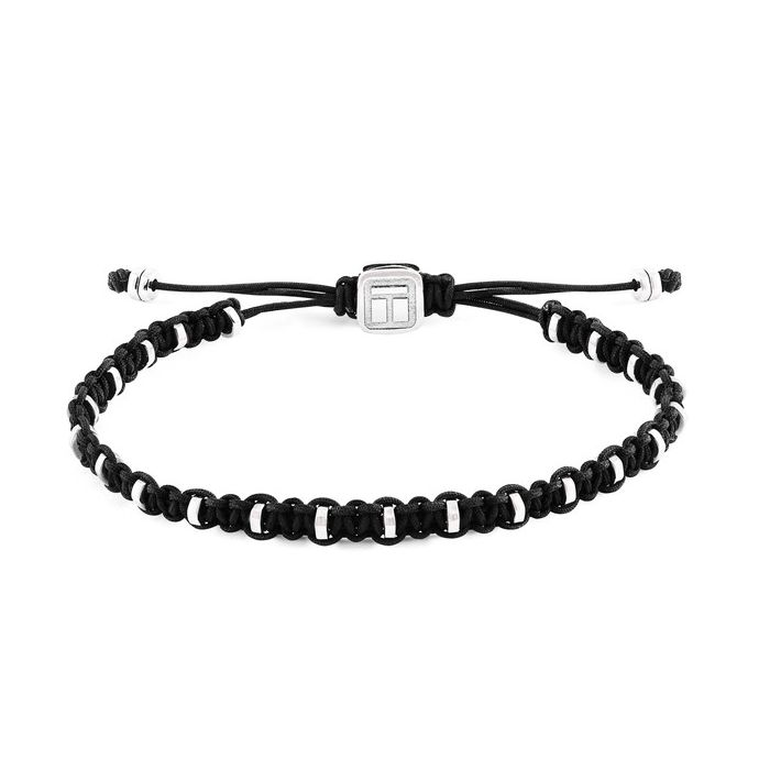 Image for Macrame bamboo black bracelet