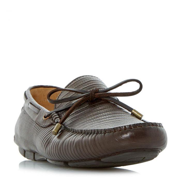 Image for Dune Mens BOTSWANA Lizard Embossed Driver Loafer Shoe