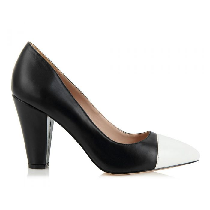 Image for Beaulieu black and white cap-toe heels