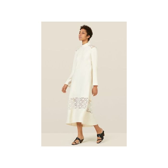 Image for Beladonia Ivory Lace Trim Dress - Ivory