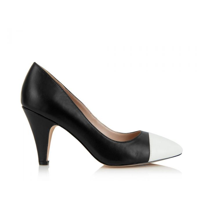 Image for Borough black and white heels