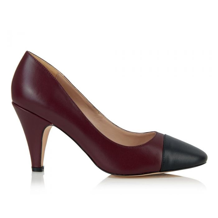 Image for Borough plum cap-toe heels