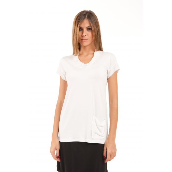 Image for Short-Sleeved Pocket Detail Top