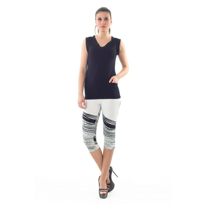 Image for Cropped Print Leggings