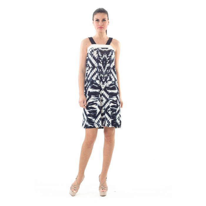 Image for Strap Detail Print Dress