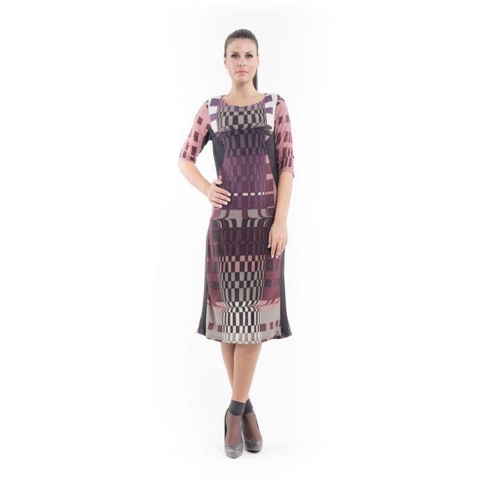 Image for Geometric Pattern Sweater Dress