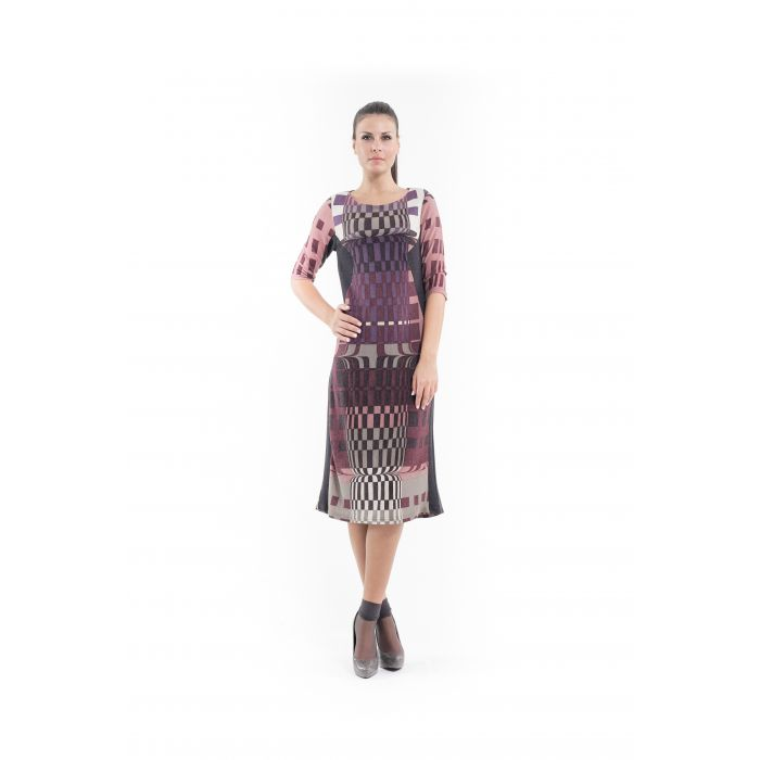 Image for Geometric Pattern Sweater Dress