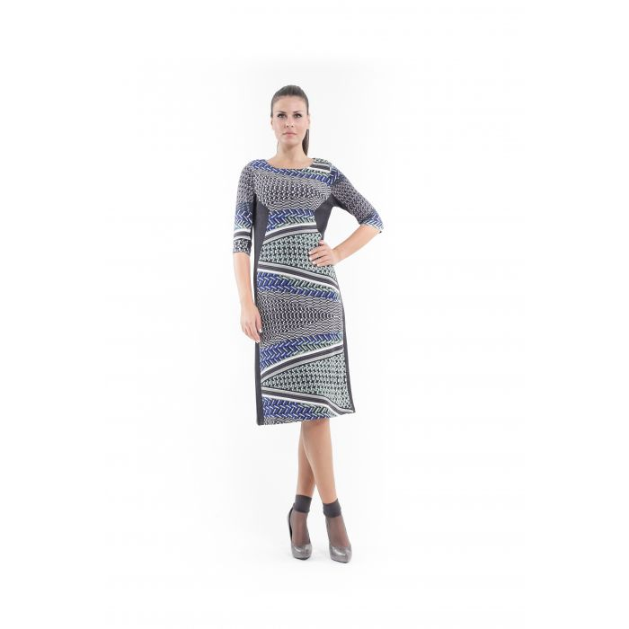 Image for Print and Panel Stretch Dress