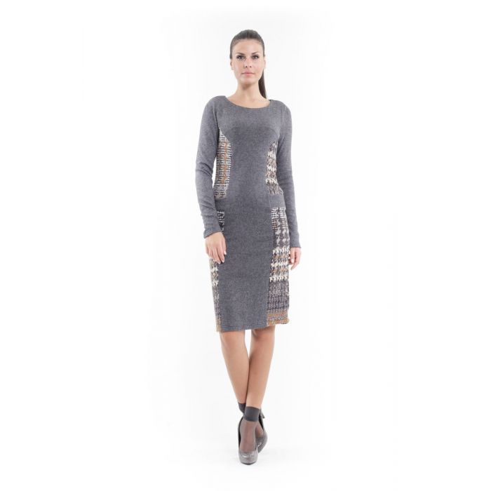 Image for Patterned Straight Sweater Dress
