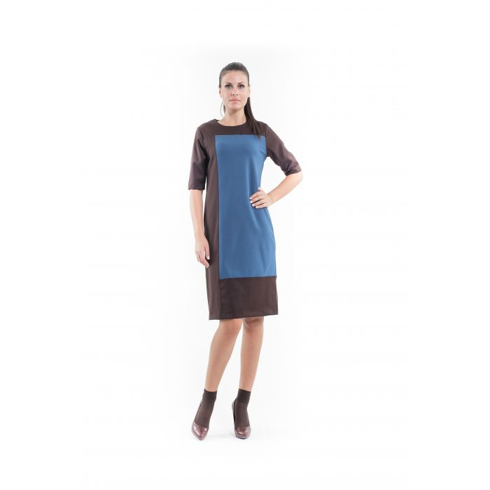Image for Contrast Fabric Shift Dress petrol
