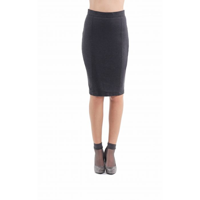 Image for Stretch Pencil Skirt anthracite