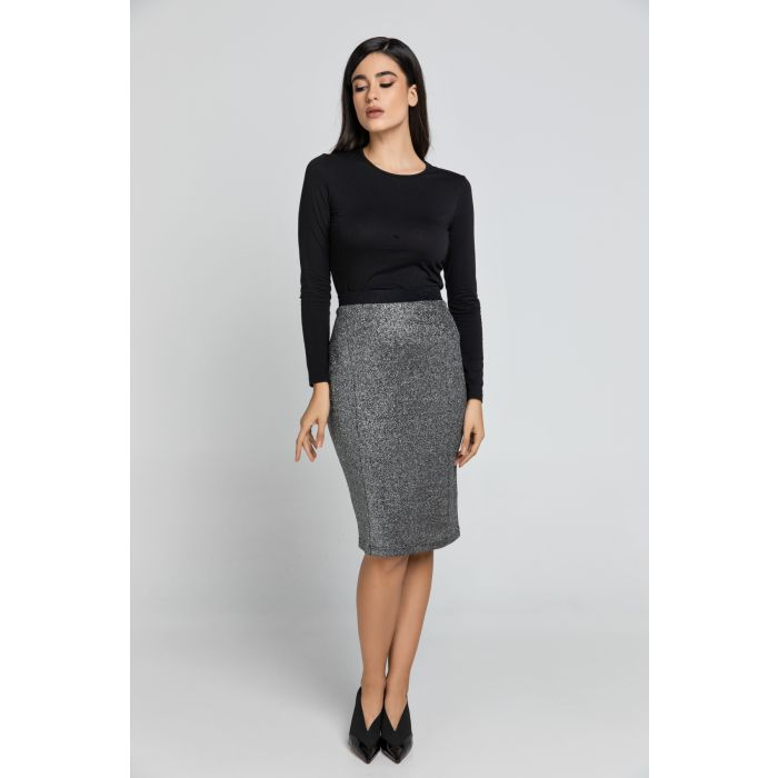Image for Black Lurex Pencil skirt Conquista