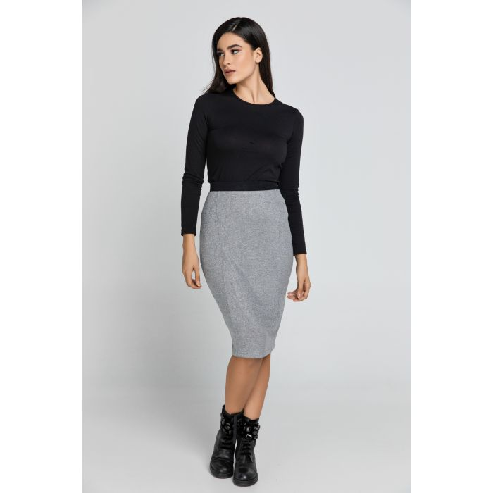Image for Silver Lurex Pencil skirt Conquista