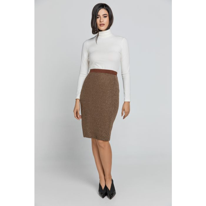 Image for Brown Lurex Pencil skirt Conquista