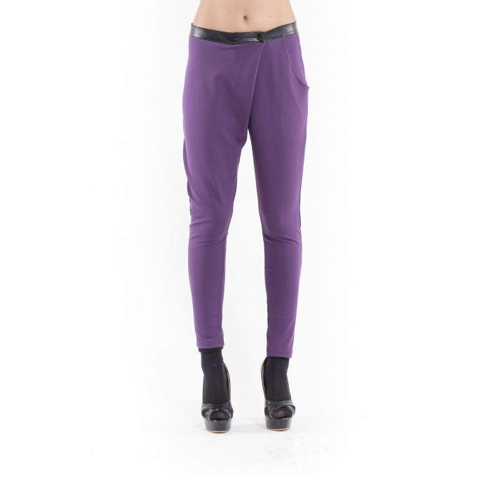 Image for Crossover Pants aubergine