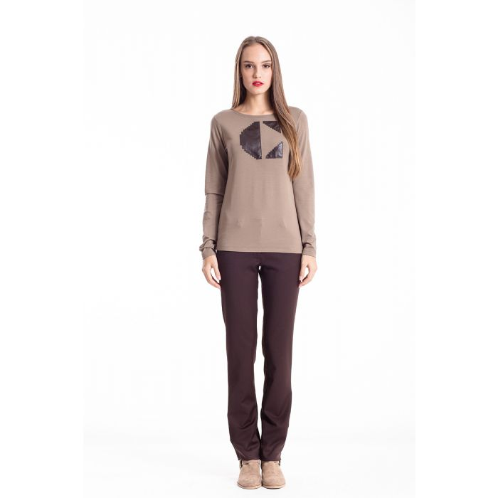Image for C' Logo Long Sleeve Top camel