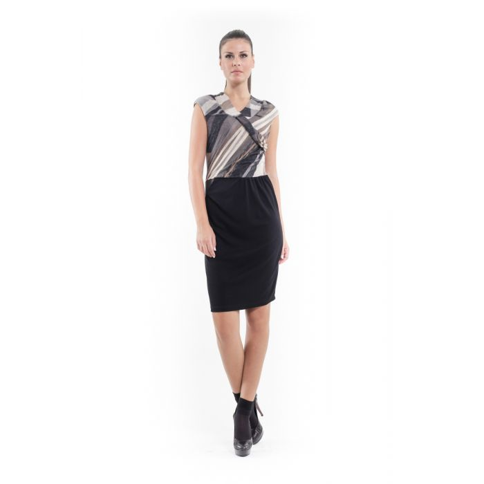 Image for Sleeveless Crossover Dress