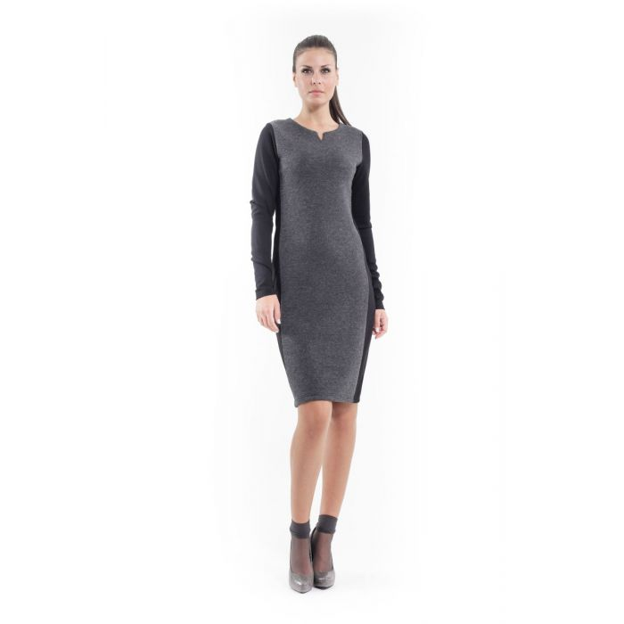Image for Wool Blend Straight Dress