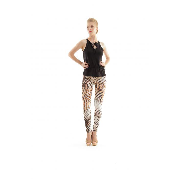 Image for Animal Print Silky Pants