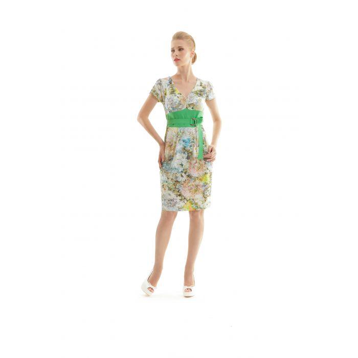 Image for Cap Sleeved Floral Print Dress