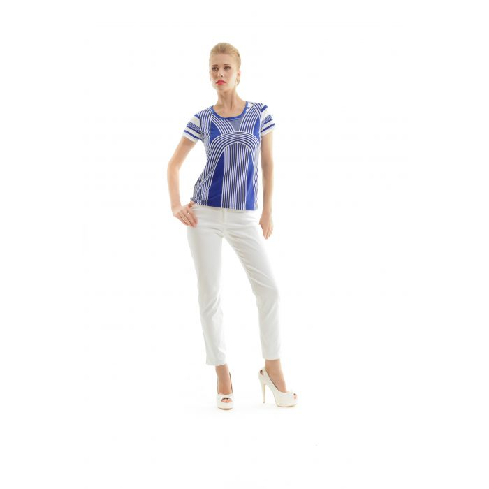Image for Short Sleeve Stripe Top