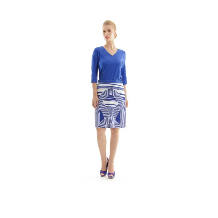 Image for Printed A-Line Skirt