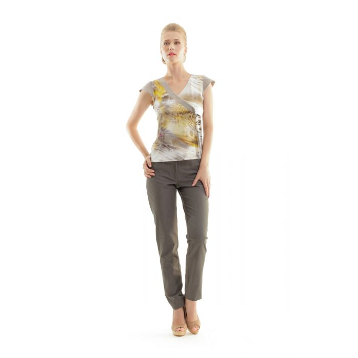 Image for Animal Print Crossover Top
