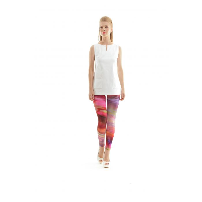 Image for Silky Stretch Print Pants