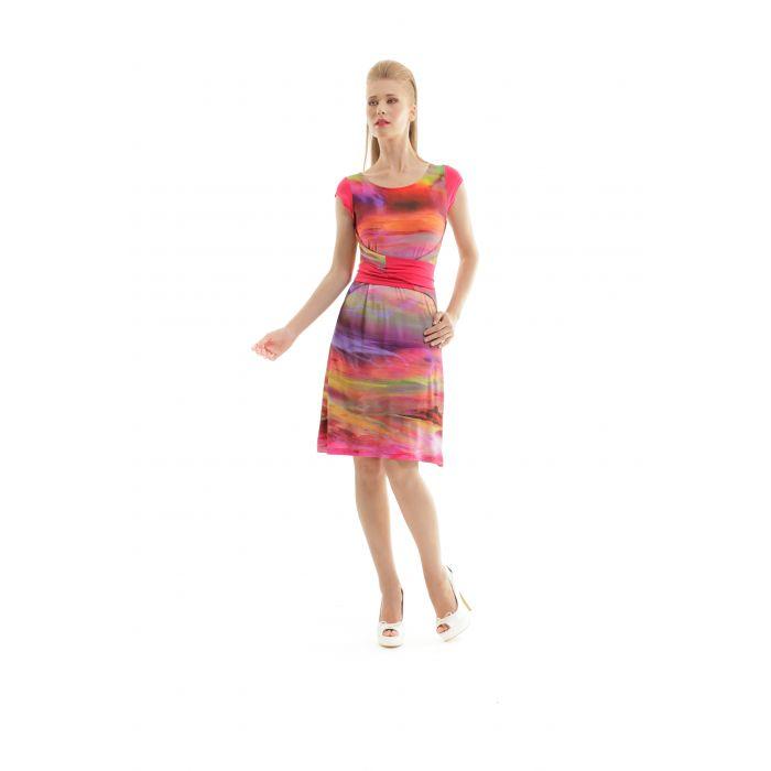 Image for Print Tie Waist Dress