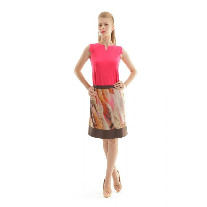 Image for A Line Animal Print Skirt