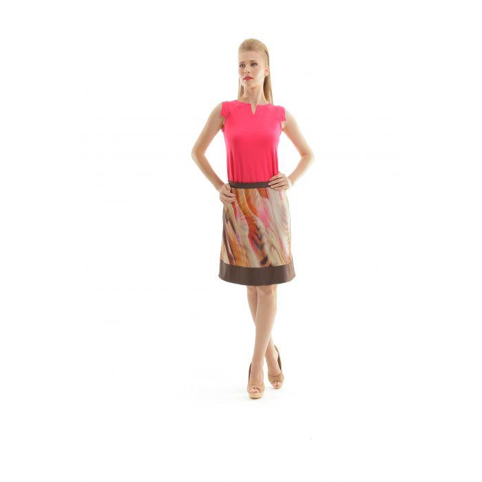 Image for A Line Animal Print Skirt