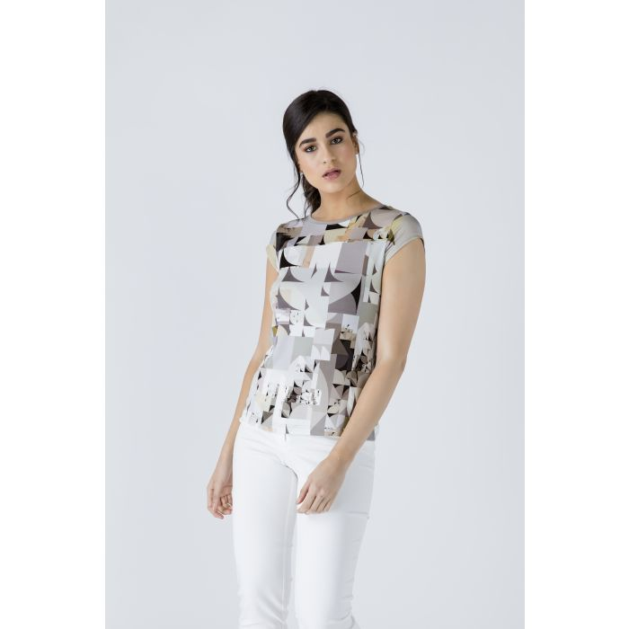 Image for Fitted Print Top