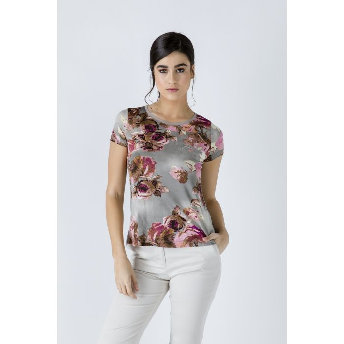 Image for Short Sleeve Floral Top