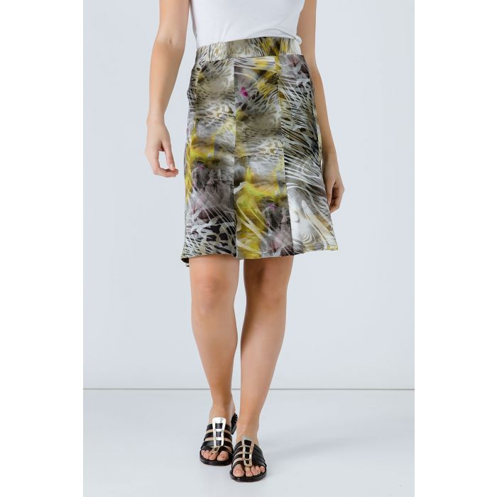 Image for Animal Print Cloche Skirt