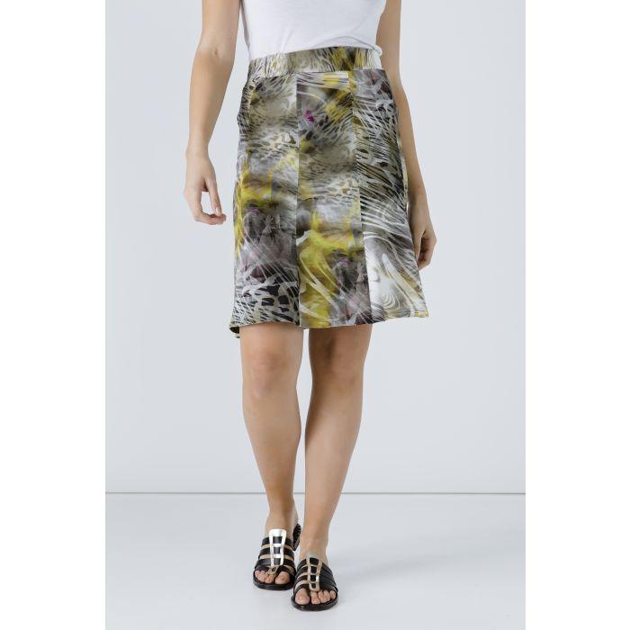 Image for Animal Print Cloche Skirt