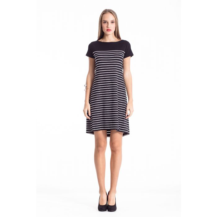 Image for Striped A Line Dress