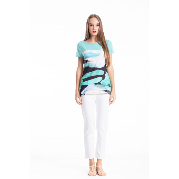 Image for Pleat Detail Short Sleeve Top
