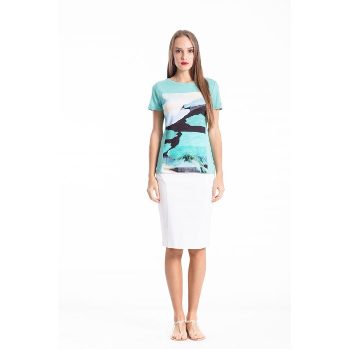 Image for Multicoloured Short Sleeve Top